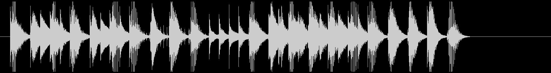 ほのぼの おもちゃのピアノのワルツの未再生の波形