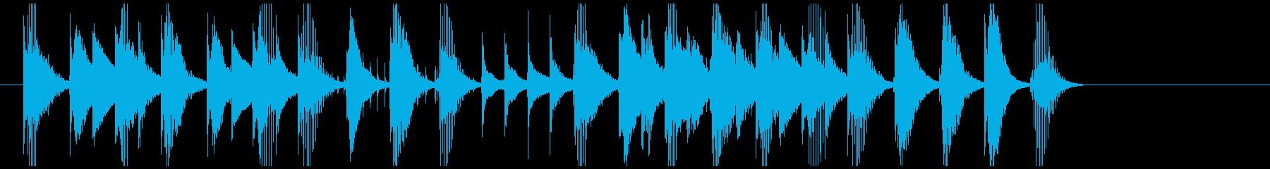 ほのぼの おもちゃのピアノのワルツの再生済みの波形