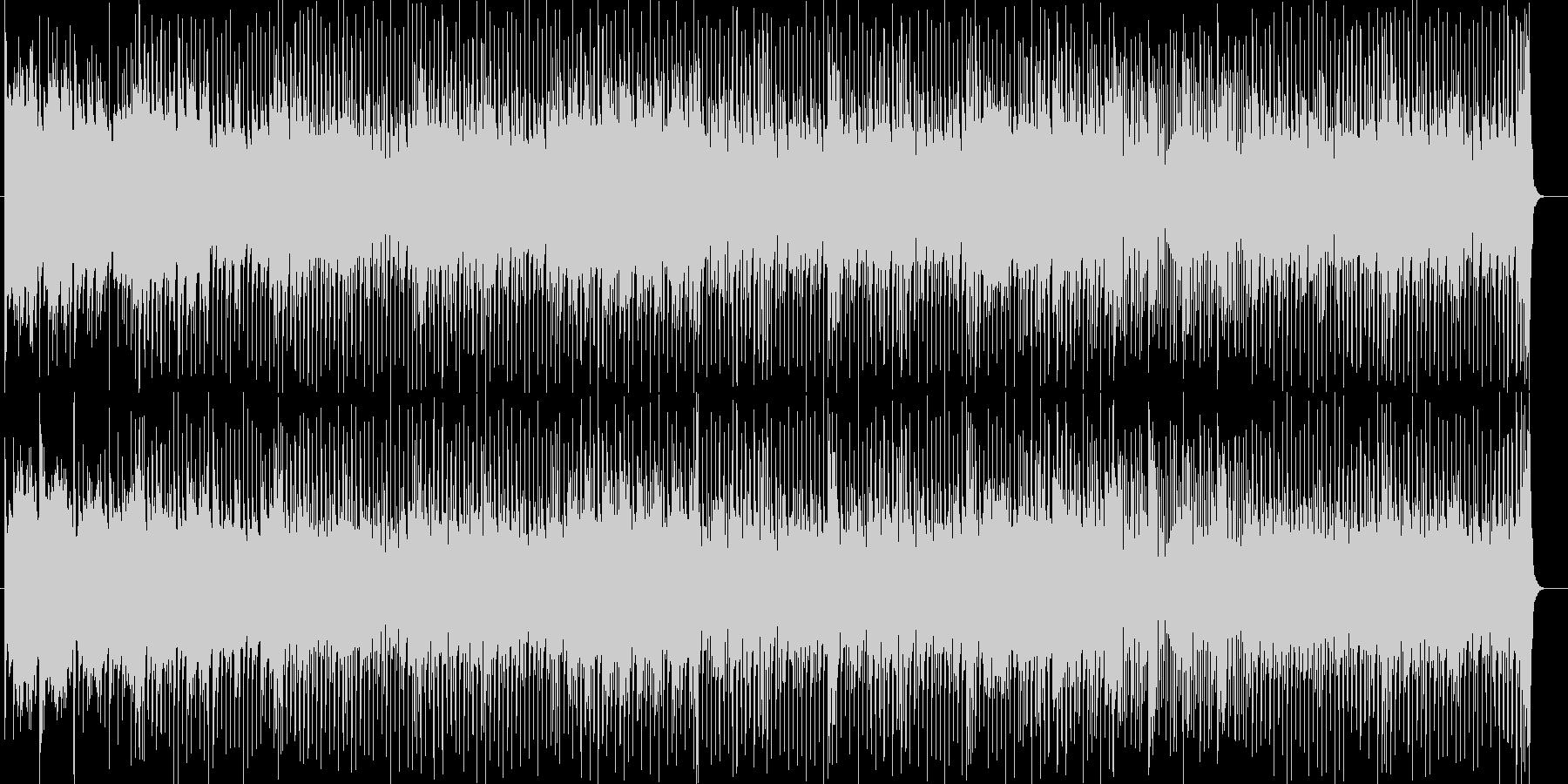 近未来的なハウスミュージックの未再生の波形