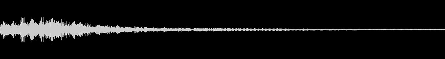 和風 ちゃららららー琴系音のジングルの未再生の波形