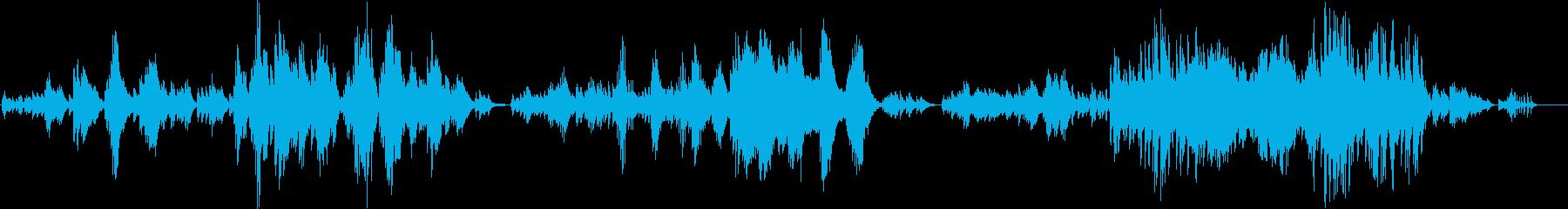 和風とクラシックのハイブリッドピアノソロの再生済みの波形