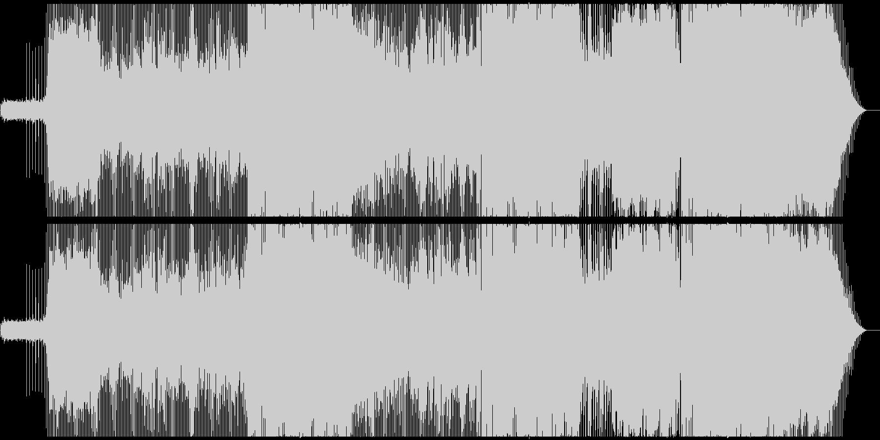 逃避の肯定を表現したギター ロックの未再生の波形