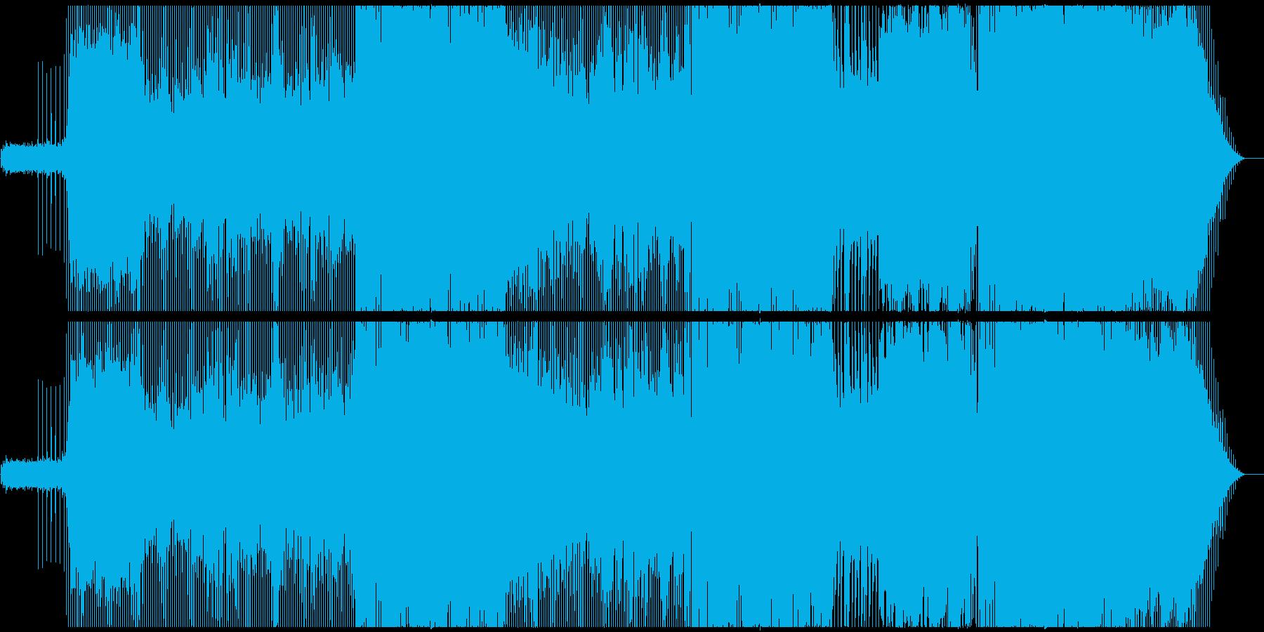 逃避の肯定を表現したギター ロックの再生済みの波形