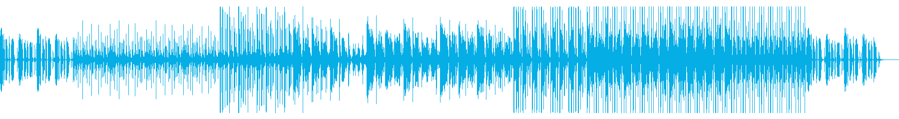 昭和のアニメで流れていそうなのどかな音楽の再生済みの波形