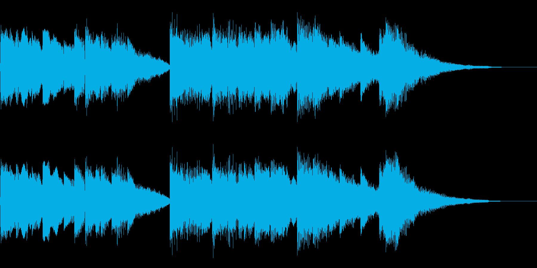 エレクトリックピアノで作ったジングルの再生済みの波形