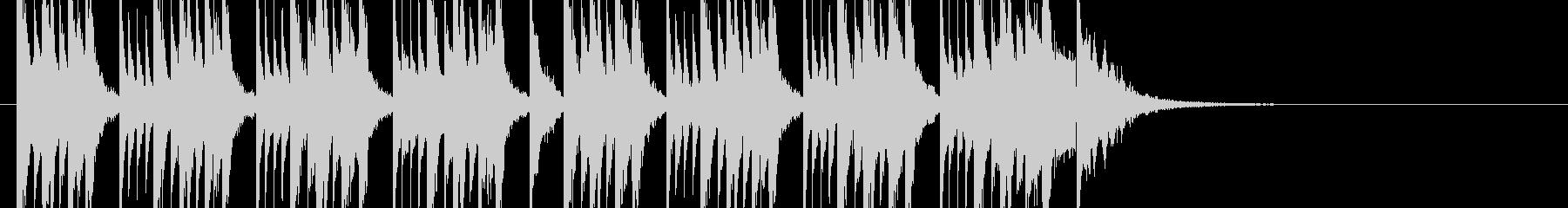 南国ムードのリラックスできるジングル の未再生の波形