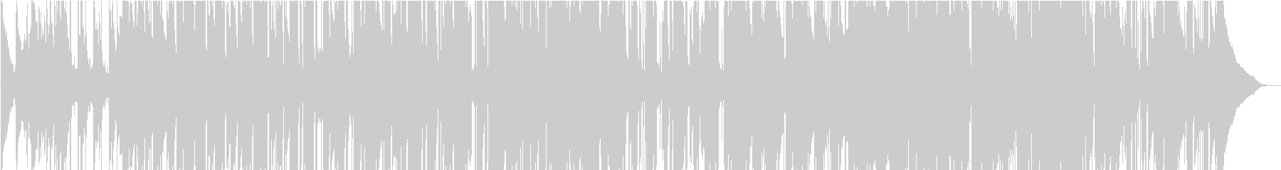 ピアノとサックスのアコースティック楽曲の未再生の波形
