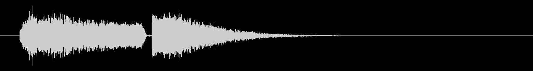 シュワーキーン インパクト音 ロゴの未再生の波形