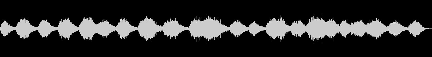 広大な大地と夜空を描写したアンビエント音の未再生の波形