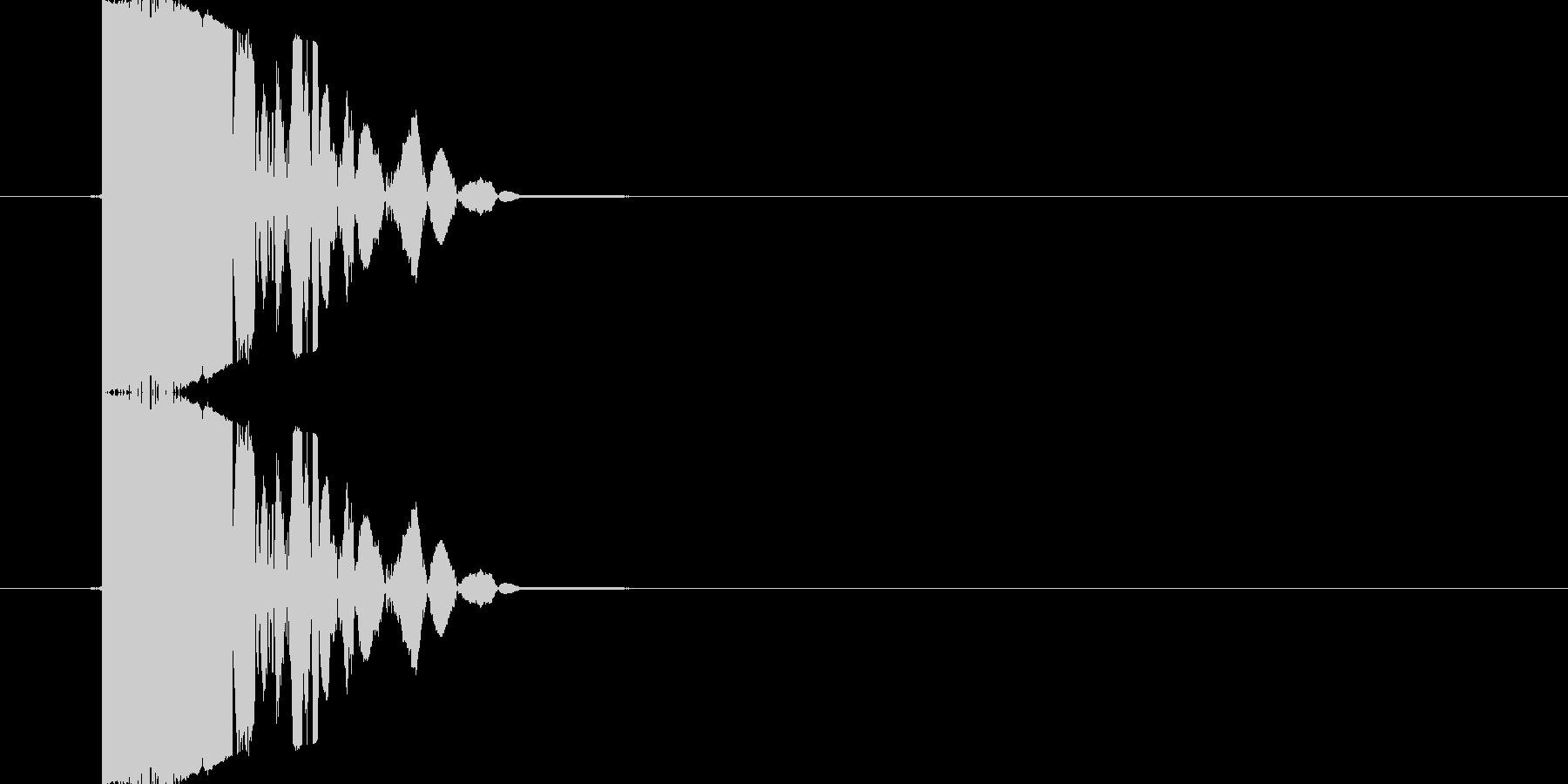 【SE】打撃音(パンチ05)の未再生の波形