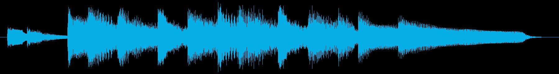 エレピとガットのふんわりカフェ風ジングルの再生済みの波形