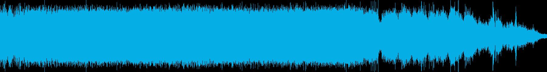 ヘリコプターの着陸音の再生済みの波形