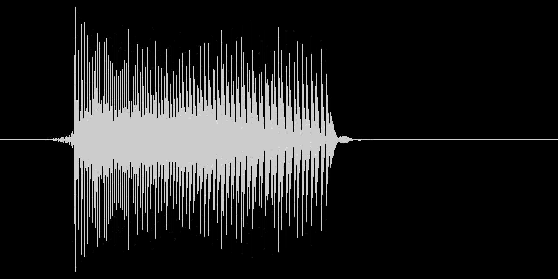 ゲーム(ファミコン風)レーザー音_021の未再生の波形