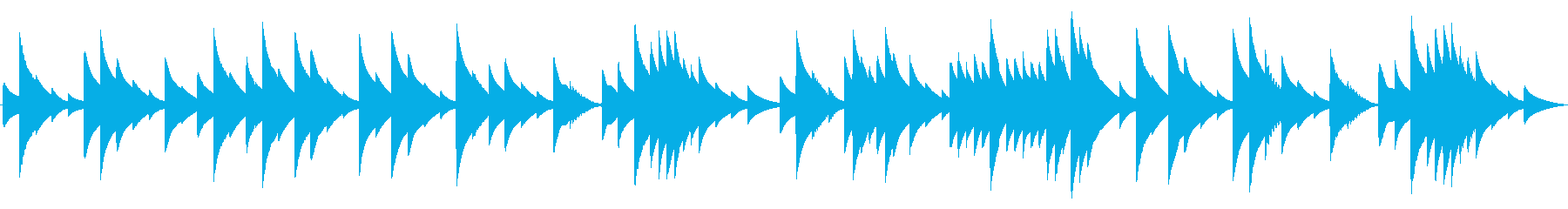 電話 保留音01-4(ノクターン)の再生済みの波形