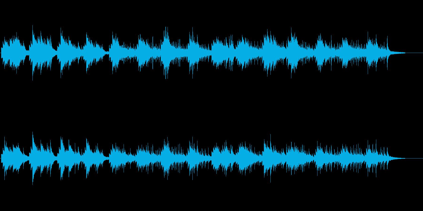 神秘的で静かなピアノソロの再生済みの波形