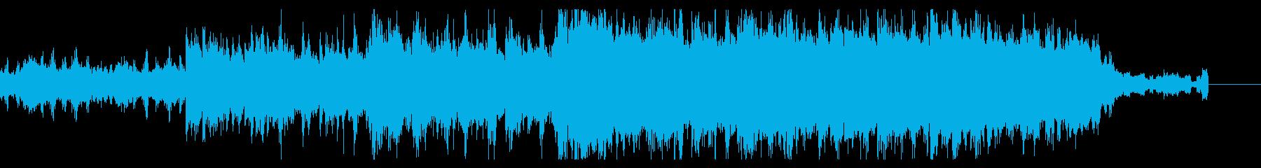 陰鬱でグリッジなテクスチャの再生済みの波形