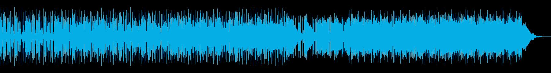 飛び跳ねてるイメージのテクノの再生済みの波形