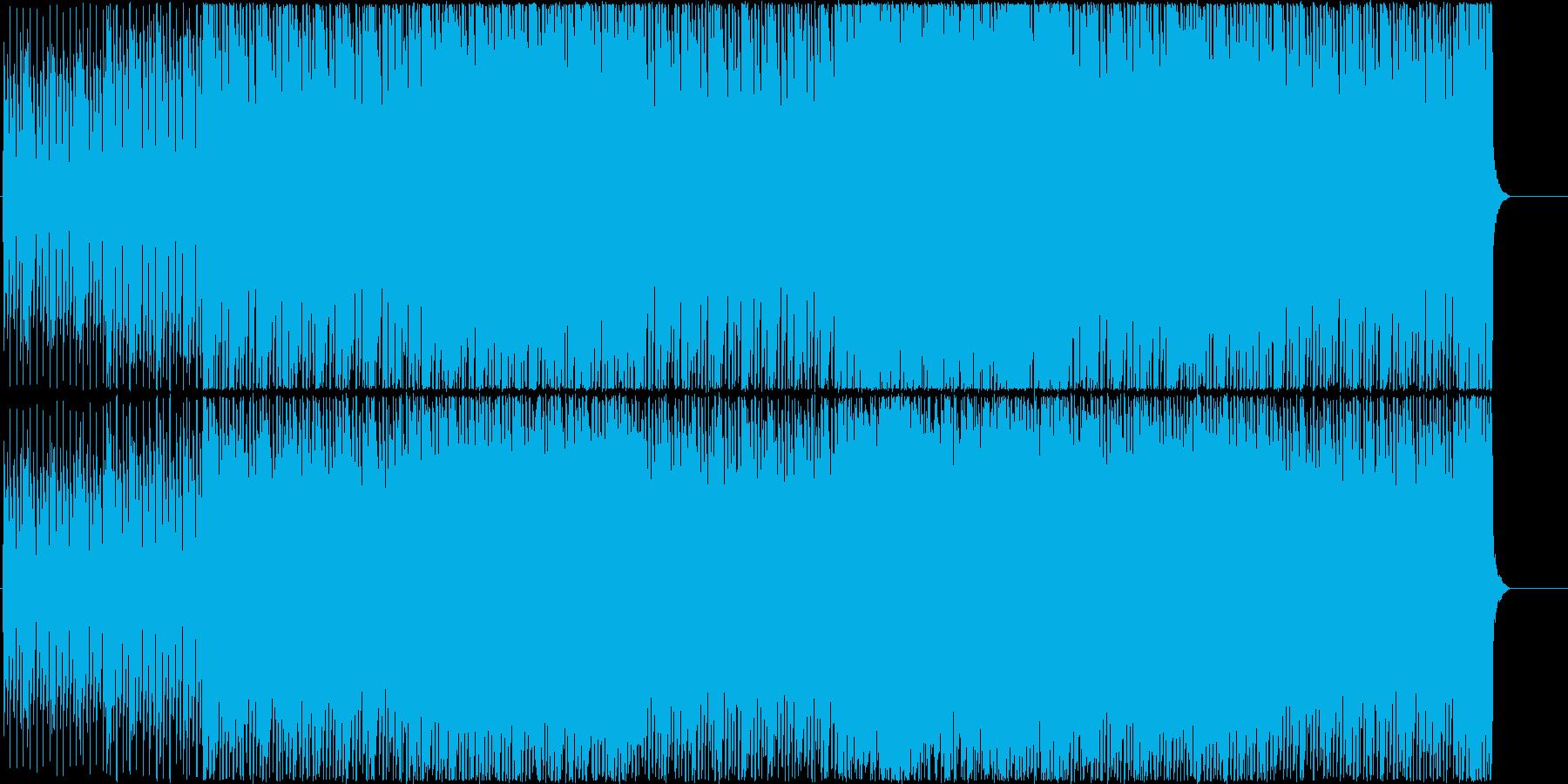元気でかわいらしいユーロビートの再生済みの波形