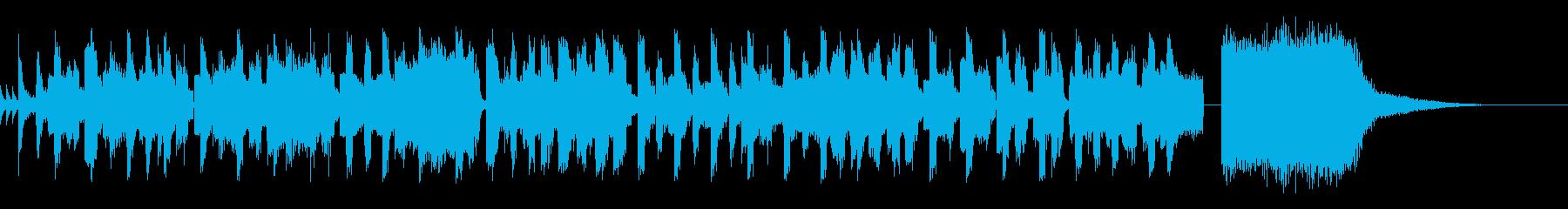 ジャジィーなノリノリピコピコミュージックの再生済みの波形