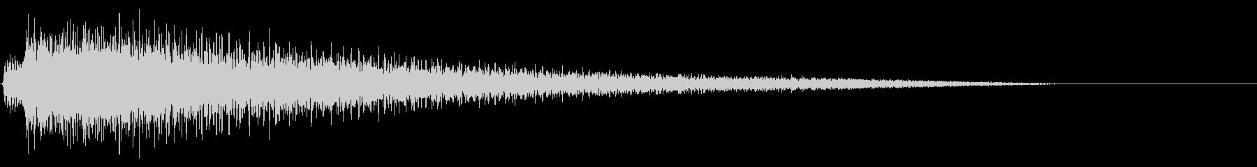 【ピアノ生演奏】優しい雰囲気のジングルの未再生の波形