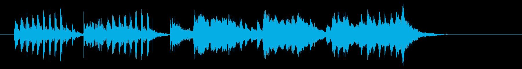 女性らしい可愛いミュージックの再生済みの波形