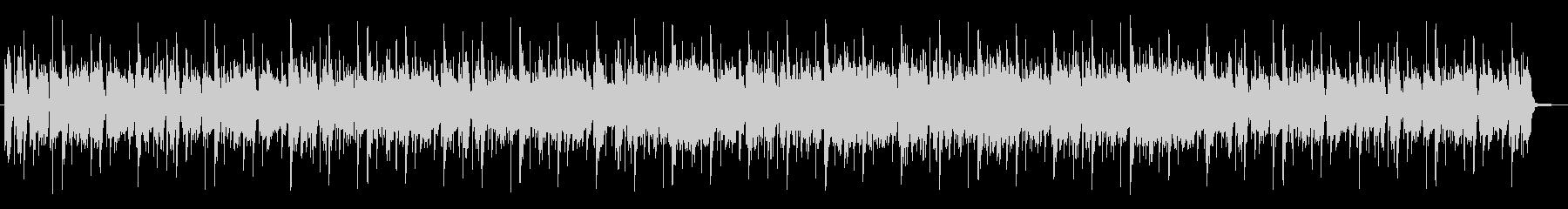 生エレキギターのファンキーチューンの未再生の波形