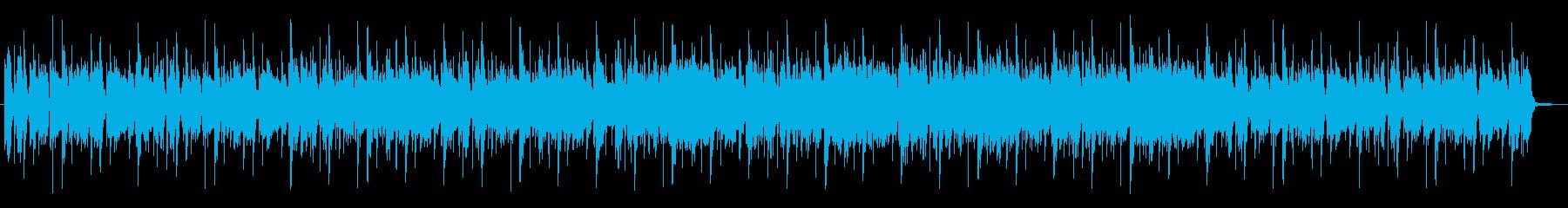 生エレキギターのファンキーチューンの再生済みの波形