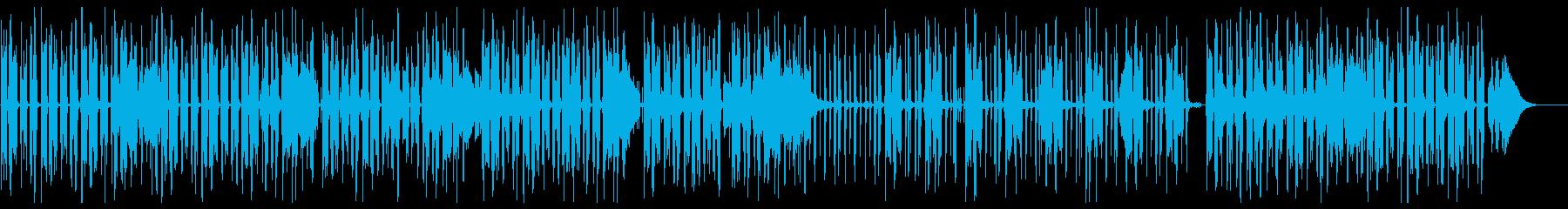 グルーヴ感のあるジャジーヒップホップの再生済みの波形