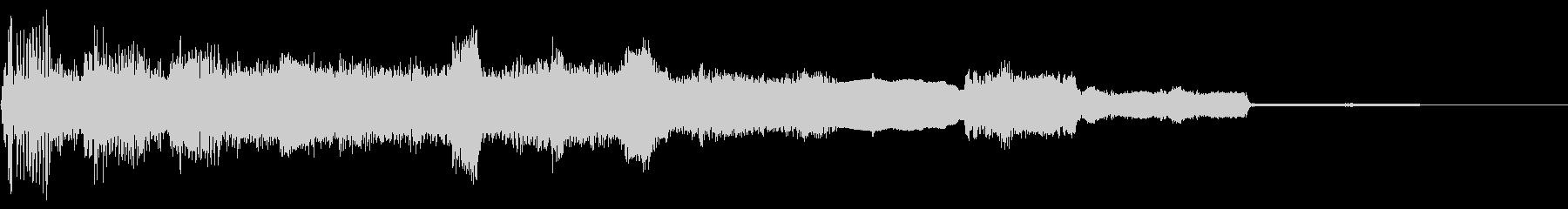 エレキギターによるアイキャッチの未再生の波形