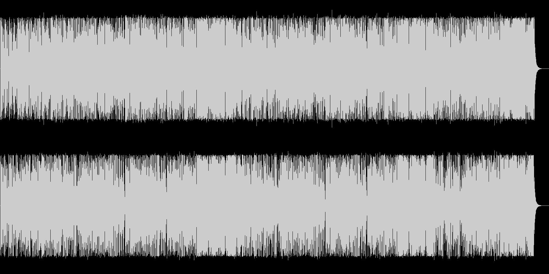 軽やかで明るいポップなBGMの未再生の波形