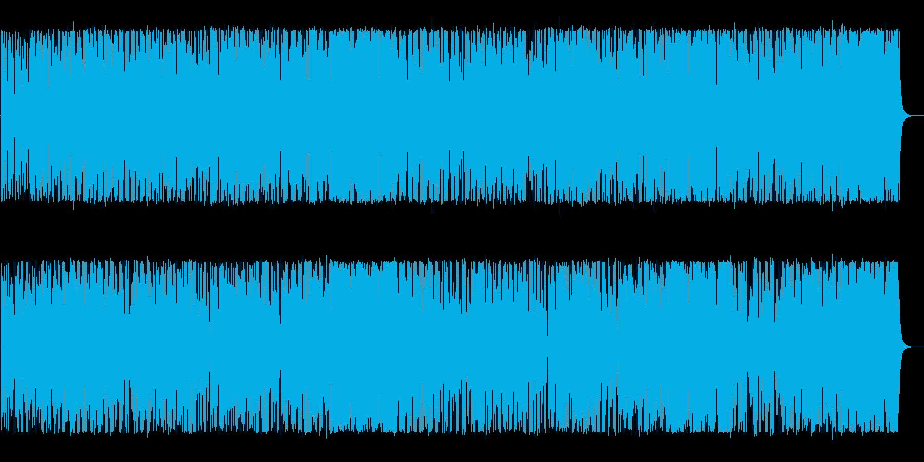 軽やかで明るいポップなBGMの再生済みの波形
