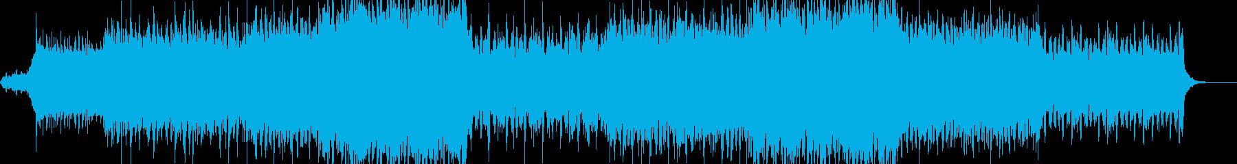 テンションが上がる電子音の曲の再生済みの波形