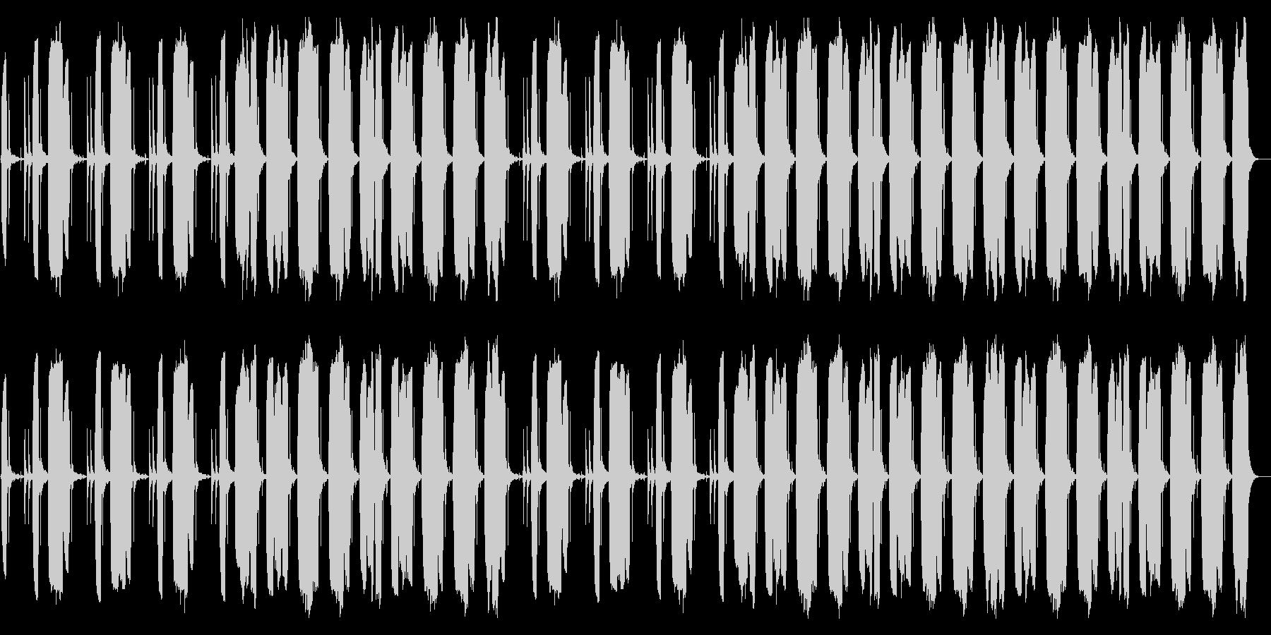 力の抜けるのんびりBGMの未再生の波形