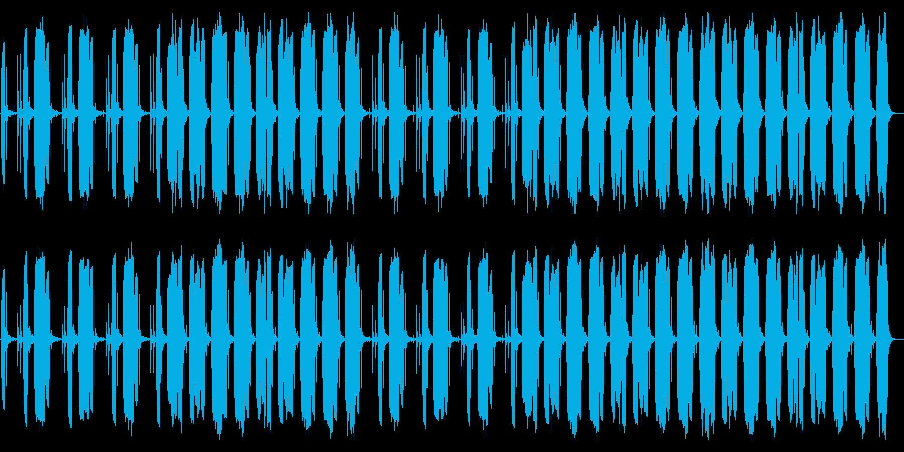 力の抜けるのんびりBGMの再生済みの波形