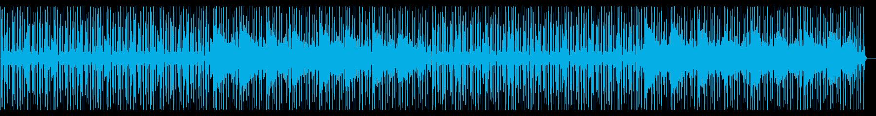 ポップで軽快な8ビット、チップチューン系の再生済みの波形