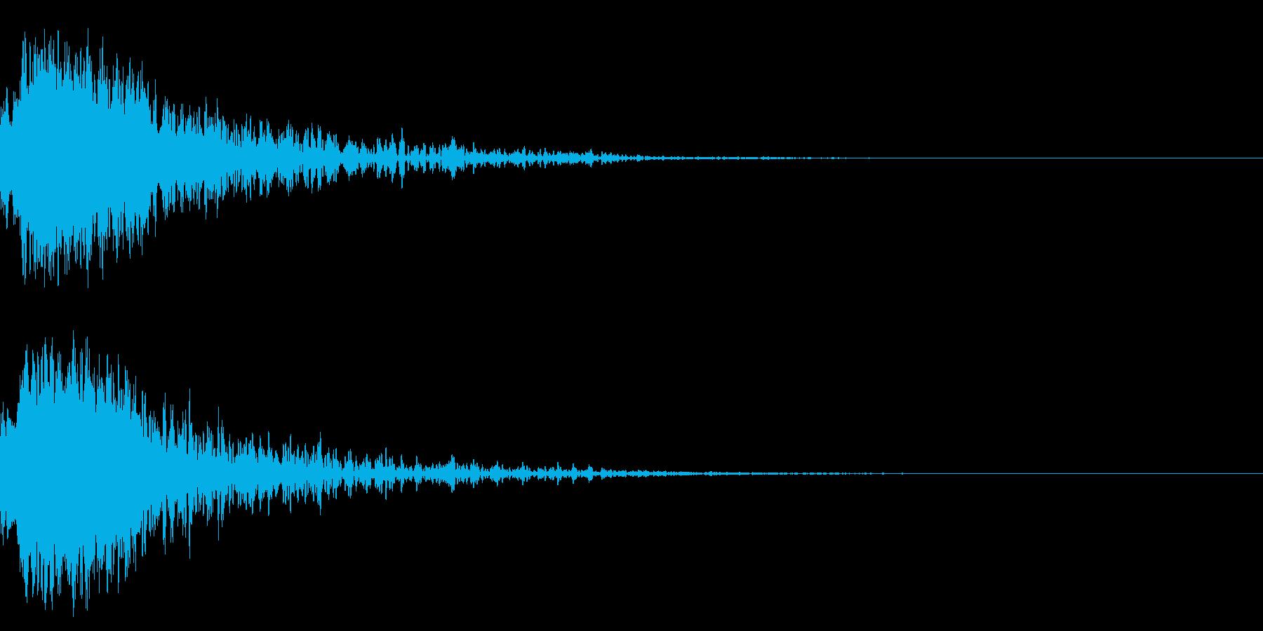 効果音 和風キラーン 2の再生済みの波形