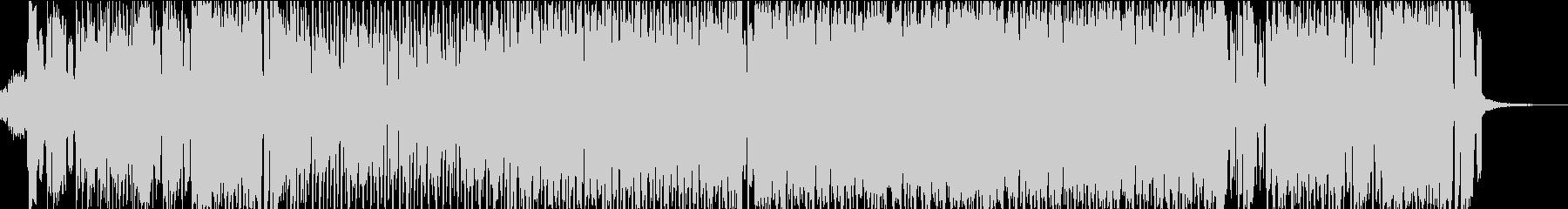 ファミリーのための電子音とアコギのBGMの未再生の波形