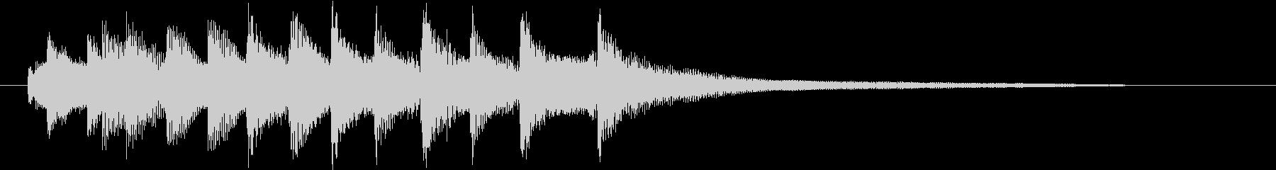 ロゴ、ジングル お洒落シンプルピアノ の未再生の波形