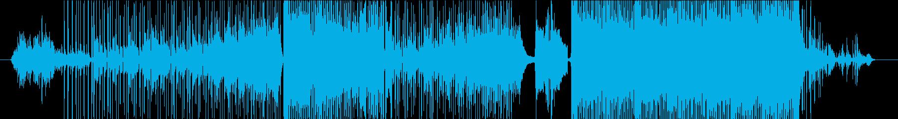 古典的でリラックスな曲の再生済みの波形