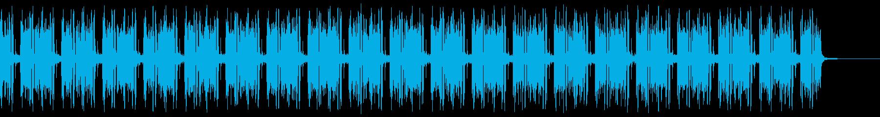 不穏で危険な雰囲気の漂うBGMの再生済みの波形