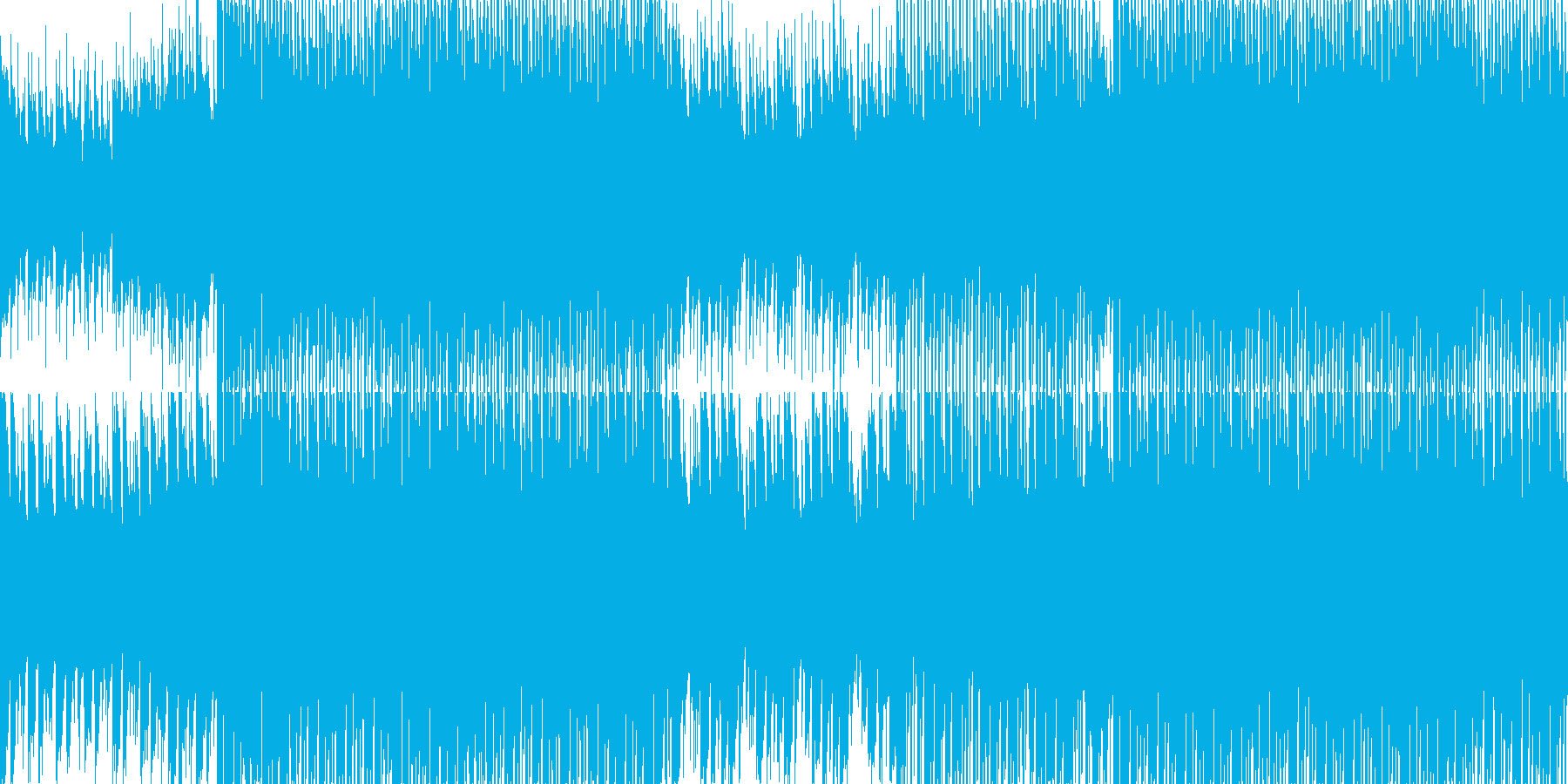 キラキラさわやかテクノポップの再生済みの波形