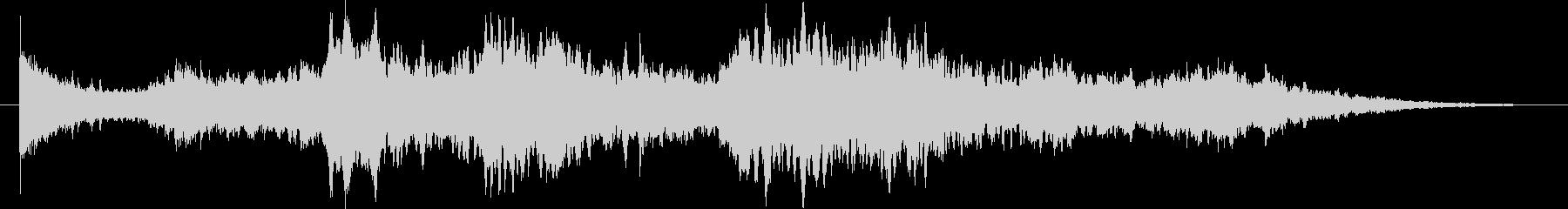 幻想的なシンセサイザーのヒーリング曲Sの未再生の波形