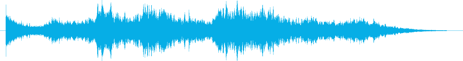 幻想的なシンセサイザーのヒーリング曲Sの再生済みの波形