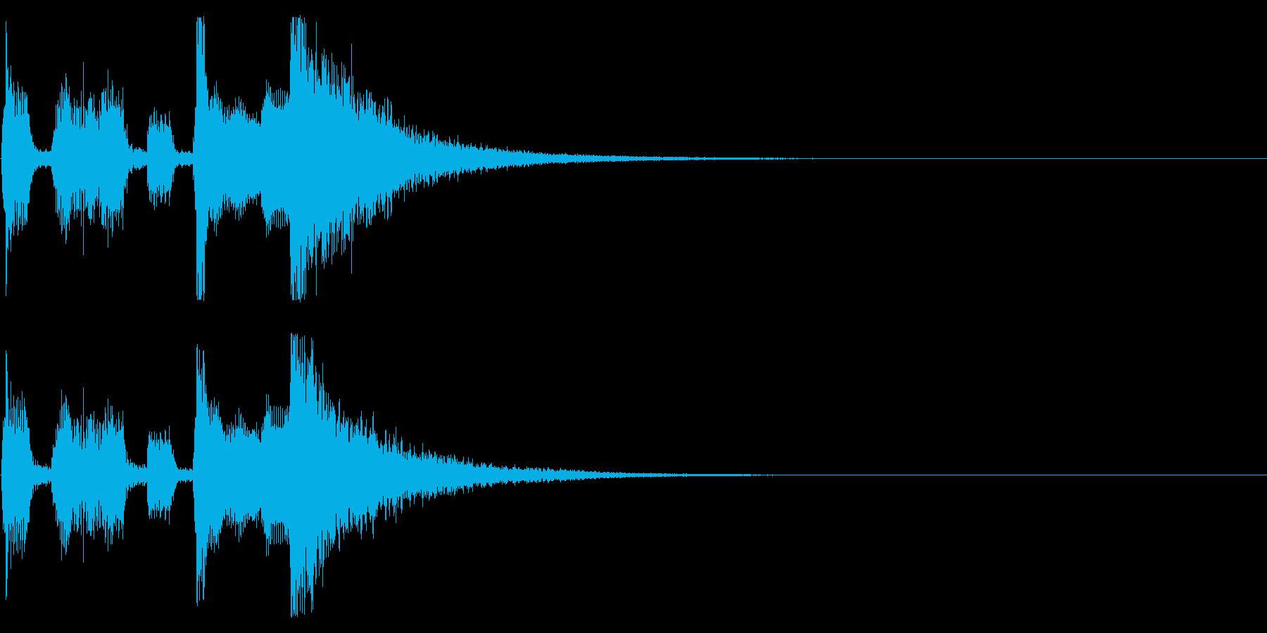 Sax音色がメインのファンファーレの再生済みの波形