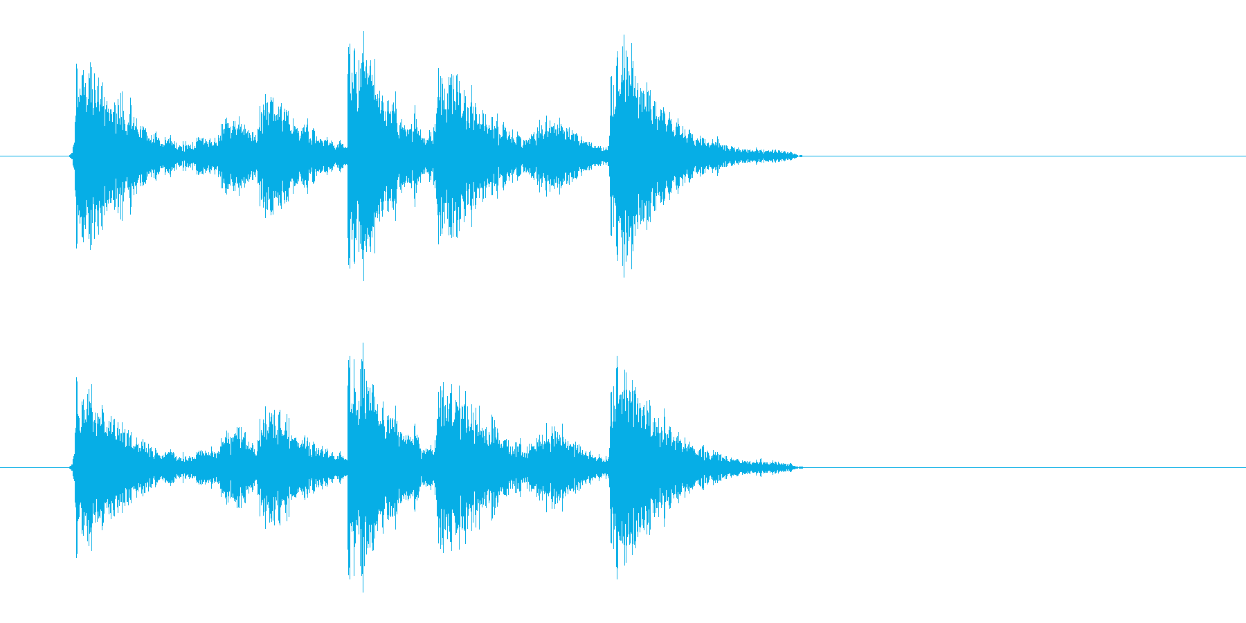 タンスタタン!エフェクトをかけたドラムの再生済みの波形