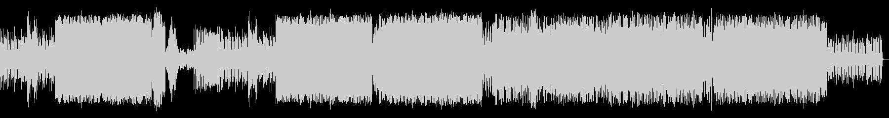 複雑にシンセの音が絡み合ったEDMの未再生の波形