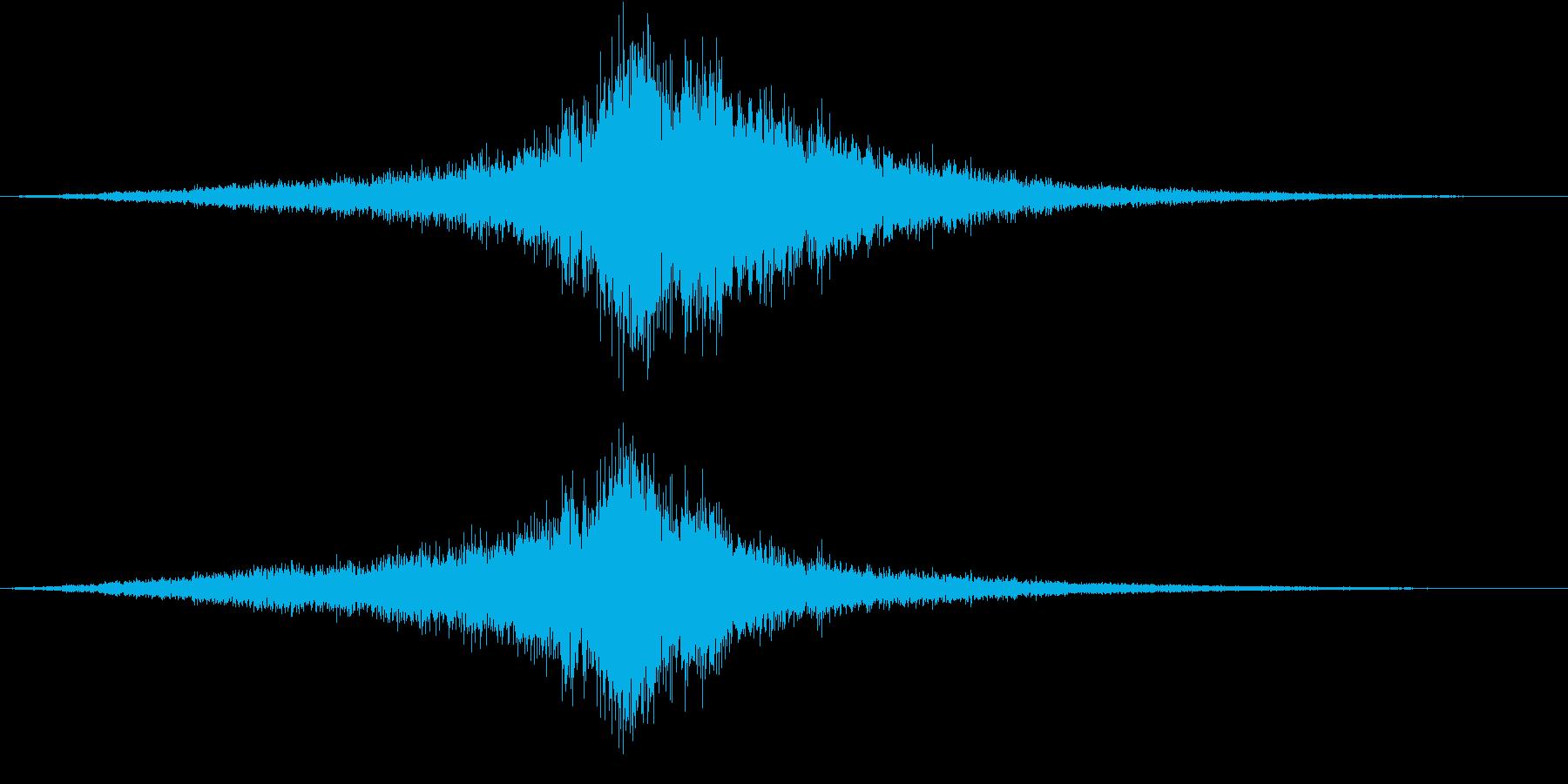 ショベルによる運転の再生済みの波形