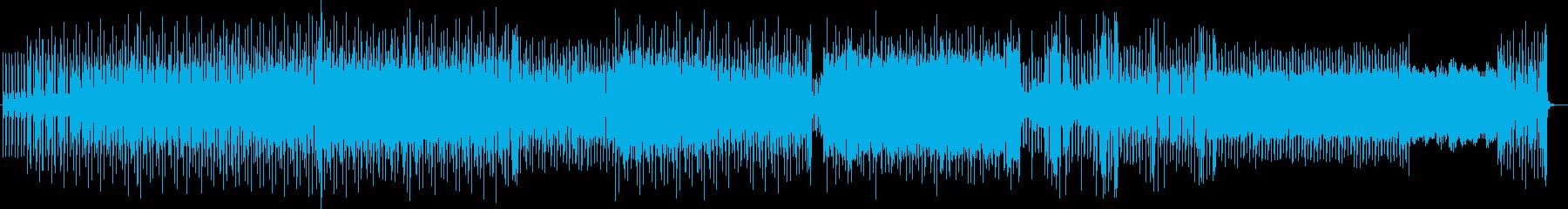 爽快な現代的テクノミュージックの再生済みの波形