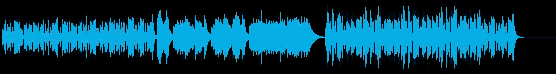 森の妖精イメージの明るいオーボエ曲の再生済みの波形