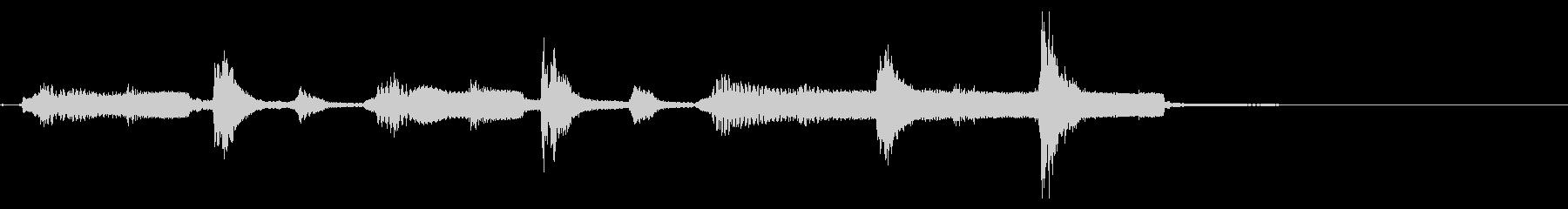 オカリナ、アコースティックなジングルの未再生の波形